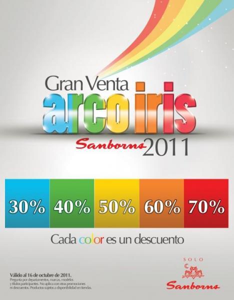 Venta Arcoiris Sanborns: descuento dependiendo el color