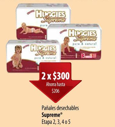 Folleto ofertas Superama octubre 10: pañales Huggies Supreme 2x$300 y más