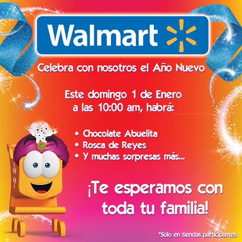 Walmart: Rosca y Chocolate gratis!!! Domingo 1 de Enero