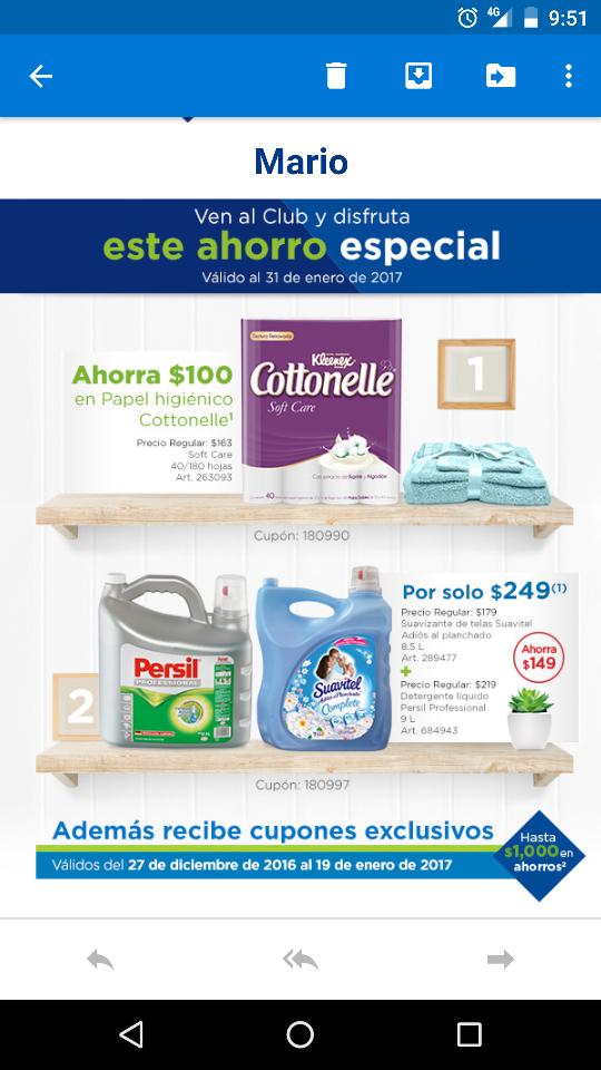 Sam's Club: Papel higiénico Cottonelle 40 rollos en $49 (renovando)