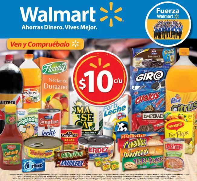 Folleto Walmart: Blu-ray $990, cámara Sony $999, FIFA Soccer 12 $740, refresco 2L $7.90 y más