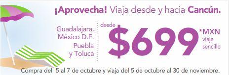 Volaris: vuela hacia o desde Cancún desde $699 precio total