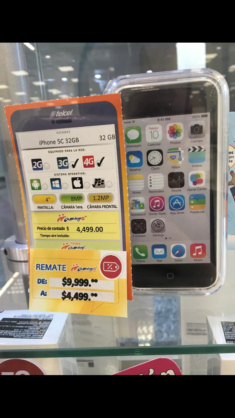Telcel: iPhone 5C 32 GB 55% de descuento