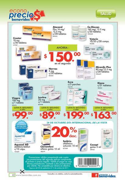 Folleto Farmacias Benavides: descuento especial en el 2do de pañales, medicina, Electrolit, crema y más