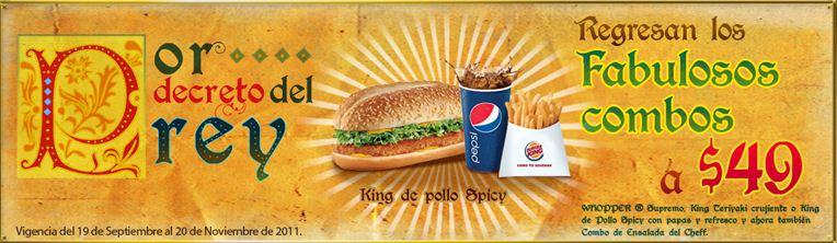 Burger King: fabulosos combos a $49