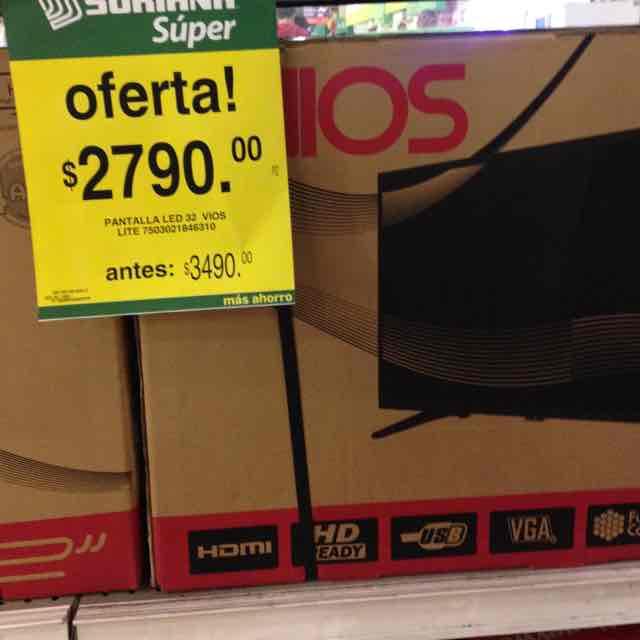 """Soriana: Pantalla 32"""" VIOS"""