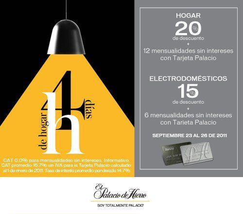 Palacio de Hierro: 20% de descuento en Hogar y 15% en electrodomésticos