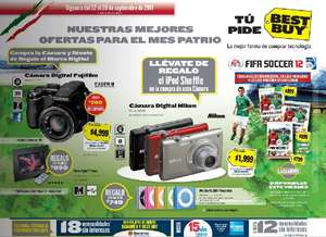 Circular Best Buy: TV LCD Sony y PS3 por $9.495, gratis iPod Shuffle al comprar cámara y más
