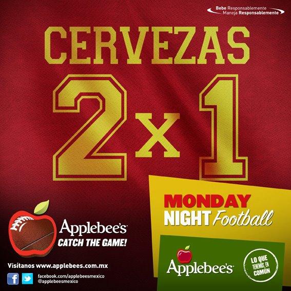 Applebee's: lunes de Monday Night Football cerveza al 2x1