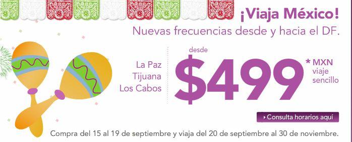 Volaris: Vuelos del DF Cancún, Los Cabos, Tijuana, La Paz y otras ciduades a $499