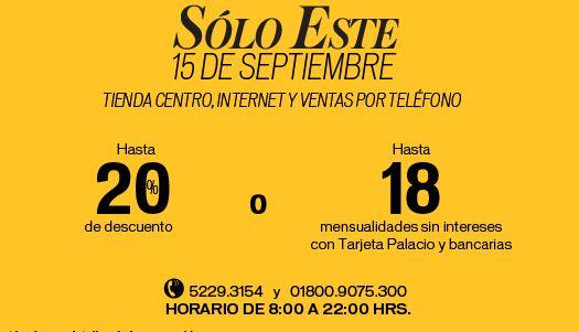 Palacio de Hierro: hasta 20% de descuento o hasta 18 MSI en tienda centro, internet y ventas por teléfono
