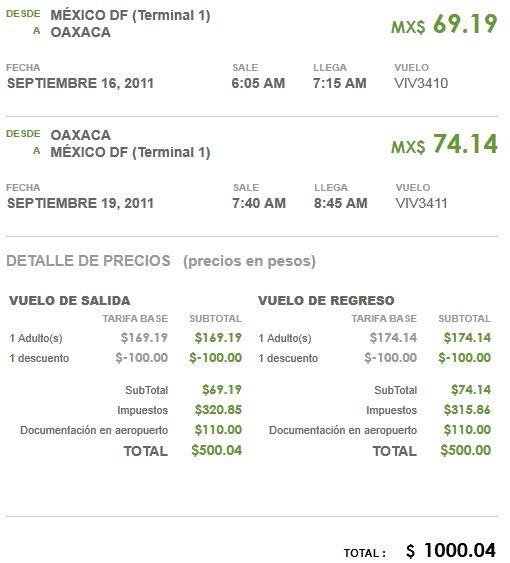 VivaAerobus: desde $500 (vuelo sencillo) saliendo del DF volando en septiembre