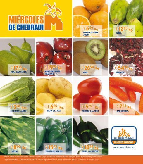 Miércoles de frutas y verduras Chedraui: Toronja $0.90 Kg, Aguacate Hass $19.45 Kg y más