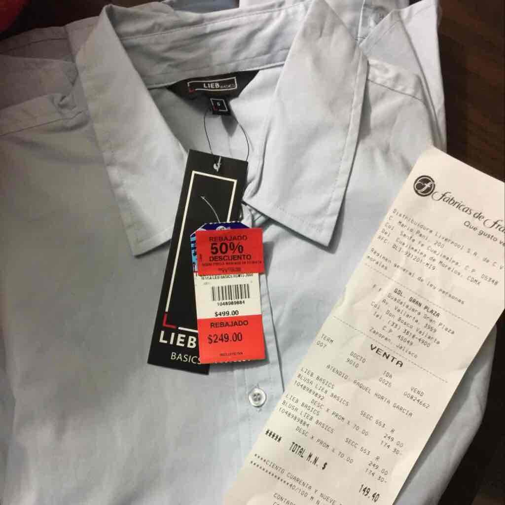 Fábricas de Francia gran plaza Guadalajara: blusa a $75