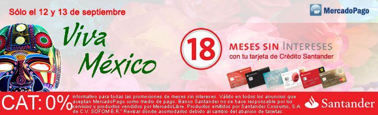 Mercado Libre: 18 MSI con tarjetas Santander (solo hoy y mañana).