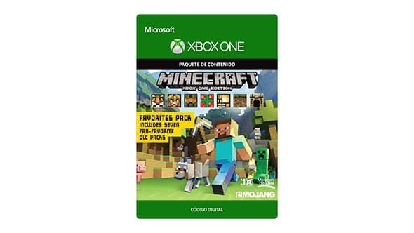 Microsoft: Minecraft para Xbox One + Paquete de favoritos - Código Digital