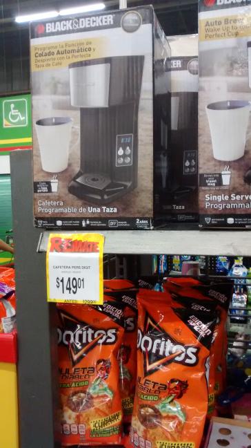 Bodega Aurrerá: Cafetera Programable 1 taza $149.01