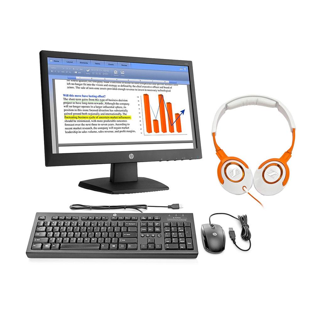 Walmart: Kit HP con monitor LED 18.5, mouse, teclado y audífonos Sennheiser