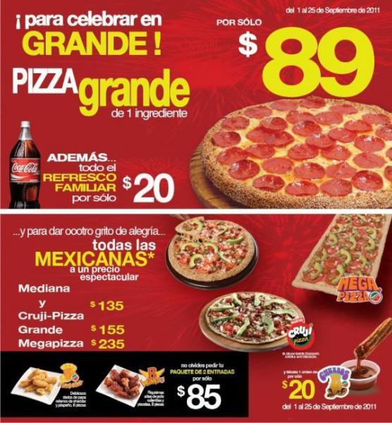 Benedetti's: $89 pizza grande y más ofertas del mes patrio