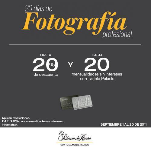 Palacio de Hierro: hasta 20% de descuento y hasta 20 MSI en fotografia profesional