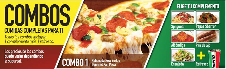 Síguenos en Twitter y gana un combo en la pizzería Sbarro