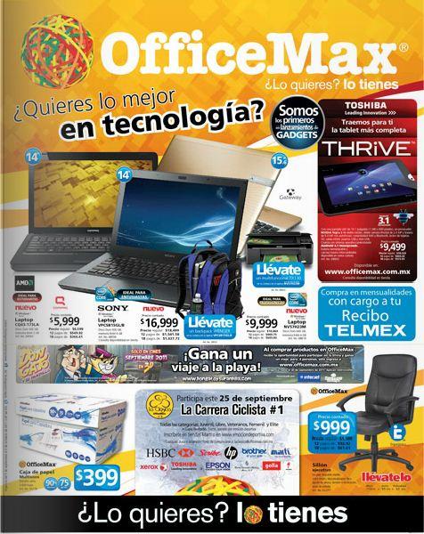 Circular OfficeMax: descuentos en laptops, antivirus, guillotinas y más