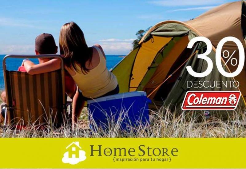 Walmart y Home Store: 30% de descuento o bonificación en marca Coleman