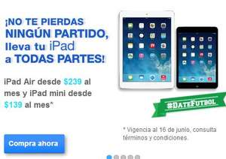 Telmex: iPad Air a 29 pagos de $239 y iPad Mini a 29 pagos de $139 (clientes Telmex)