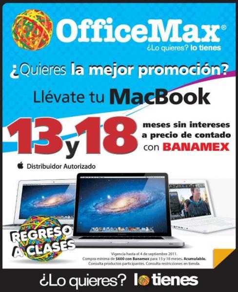 OfficeMax: tarjeta iTunes gratis de $200 al comprar cualquier iPod y 13 o 18 MSI en MacBooks