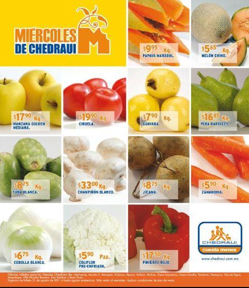 Miércoles de frutas y verduras Chedraui: Chayote sin espinas $0.90 Kg y más