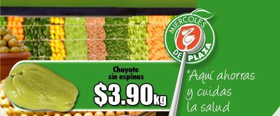 Miércoles de Plaza en Comercial Mexicana: Chayote sin espinas $3.90 Kg y más
