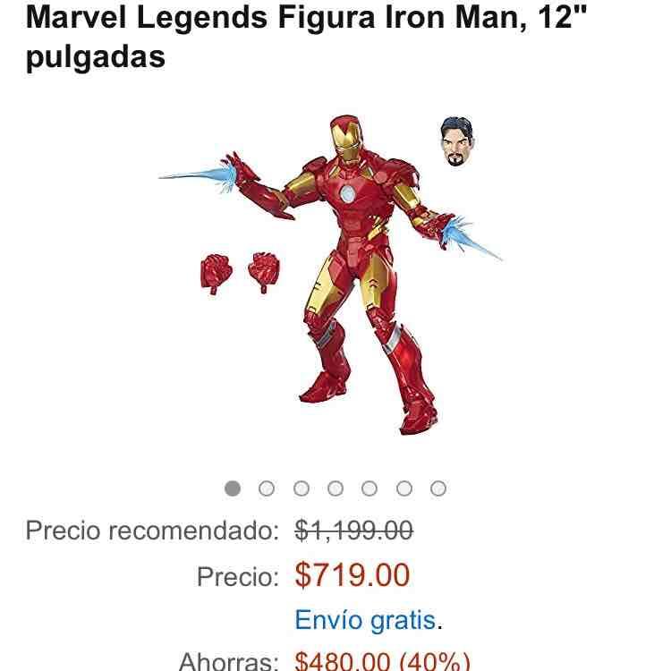 """Amazon: Ironman 12"""" o Capitán América a $719"""