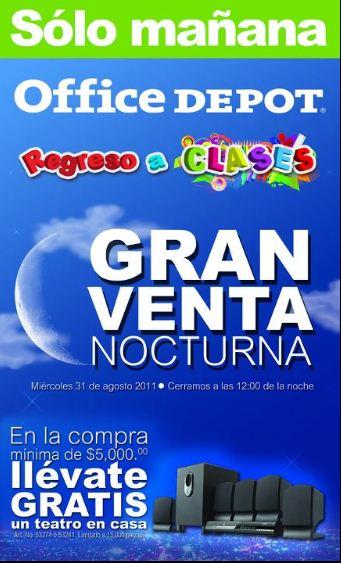 Venta Nocturna Office Depot: 3x2 en iTunes, 20% de descuento en iPods, cámaras, televisiones y más
