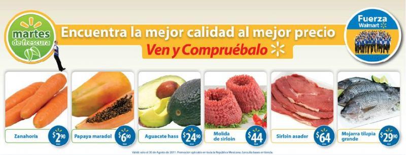 Martes de Frescura Walmart: zanahoria $2.90 Kg, aguacate Hass $24.90 y más