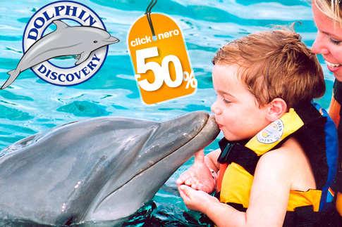 clickOnero: encuentro con délfines en Six Flags para 2 por $690