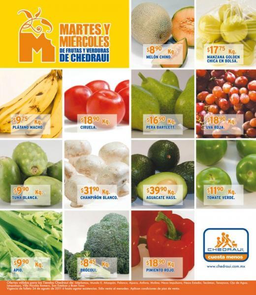 Miércoles de frutas y verduras Chedraui: toronja $0.95 Kg y más