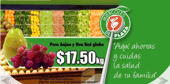 Miércoles de Plaza Comercial Mexicana: pera Anjou y uva red golblo $17.50 y más