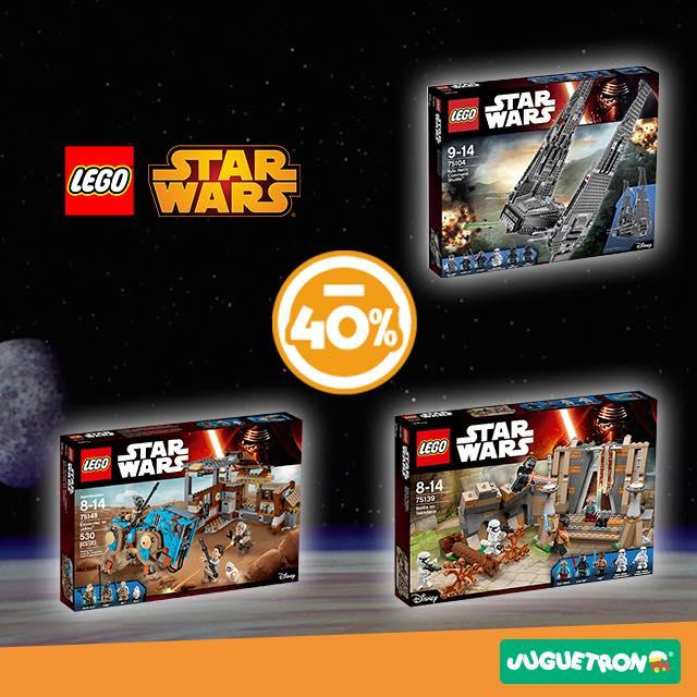 Juguetron: 40% de descuento en Lego Star Wars