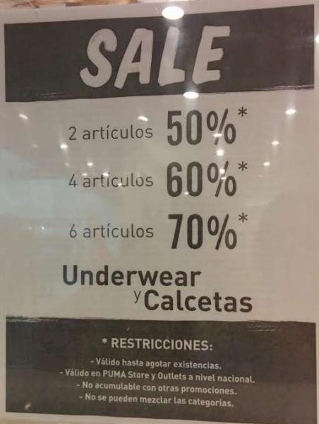 Puma: 70% de descuento en ropa interior y calcetines comprando 6 artículos