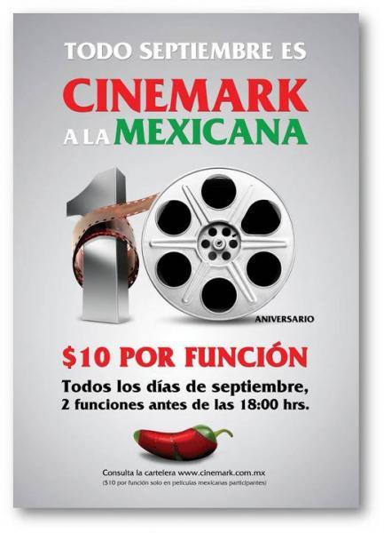 (Hoy comienza) Cinemark: $10 la función en películas mexicanas en septiembre