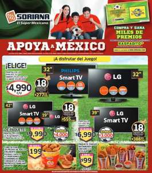 Folleto de ofertas Soriana del 6 al 19 de junio