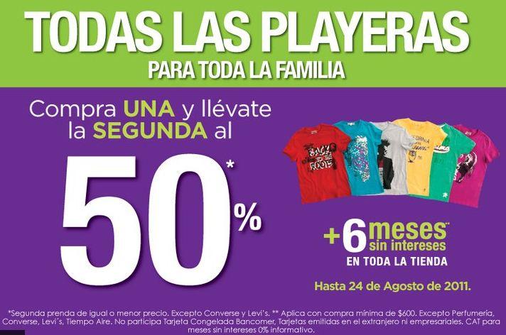 Suburbia: compra una y la segunda al 50% en playeras (oferta extendida)
