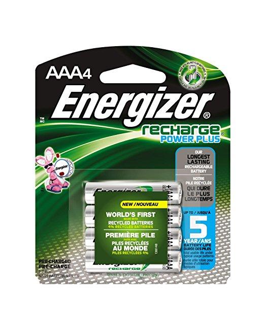 Amazon MX: Paquete de 4 baterías/pilas recargables energizer AAA