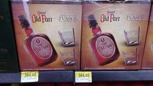 Walmart: Whisky Old Parr 750 ml 12 años + 2 vasos inclinados a $384.03