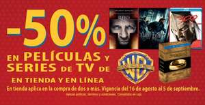 Blockbuster: 50% en películas y series de Warner Bros.