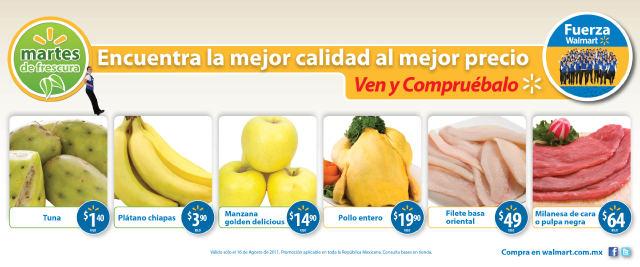 Martes de Frescura en Walmart: Plátano $3.90 Kg, tuna $1.40 y más.