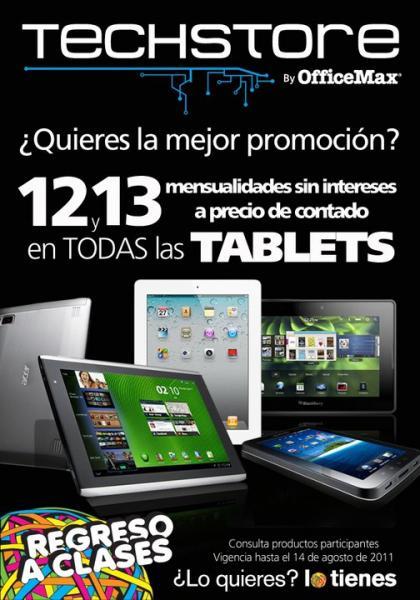 Office Max: 12 y 13 MSI en todas las Tablets.