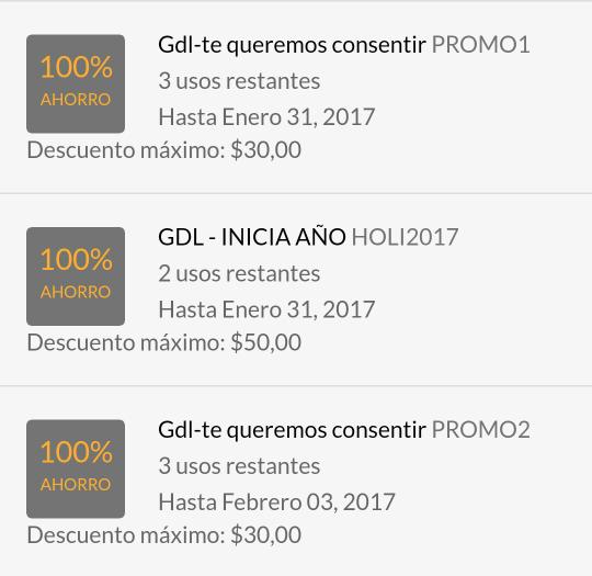 Cabify Guadalajara: cupones de $50 y $30