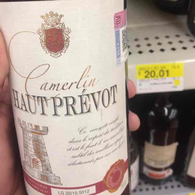 Walmart: vino tinto francés Haut Prevot a $20.01