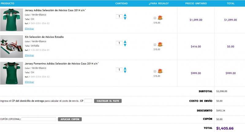 Netshoes: 3x2 + cupón de $250 pagando con Bancomer (incluye camisa de la selección)